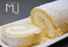 Brazo de gitano relleno de nata / Swiss roll filled with cream
