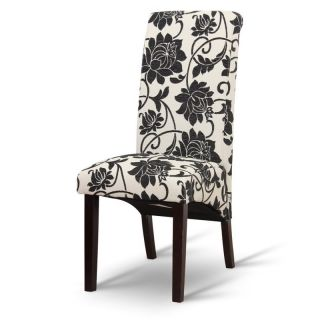Jedálenská stolička JUDY, biela/tmavý orech