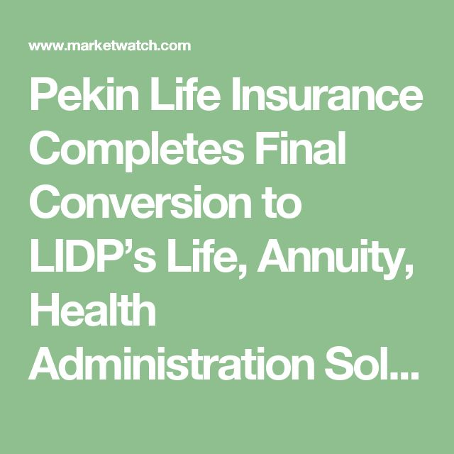 Pekin Life Insurance Completes Final Conversion to LIDP's Life, Annuity, Health Administration Solution