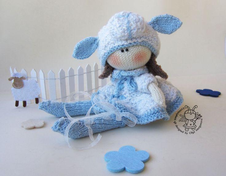 """Купить Мастер-класс """"Кукла Овечка"""" - вязаная игрушка, вязание спицами, МК, авторская игрушка"""