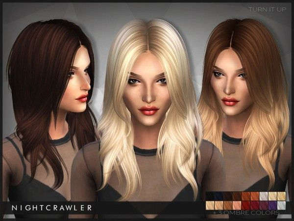 The Sims Resource: Nightcrawler-Turn It Up hairstyle • Sims 4 Downloads