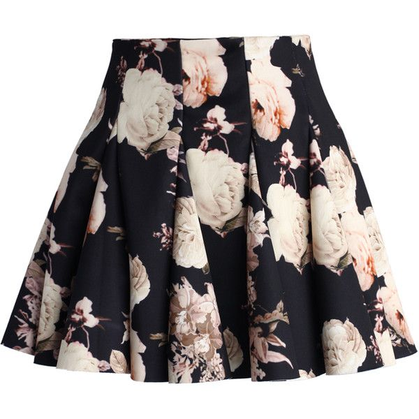 Chicwish Faded Roses Mini Skater Skirt ($40) ❤ liked on Polyvore featuring skirts, mini skirts, bottoms, saias, faldas, multi, rose skirt, high-waisted skirts, high waisted circle skirt and mini skater skirt