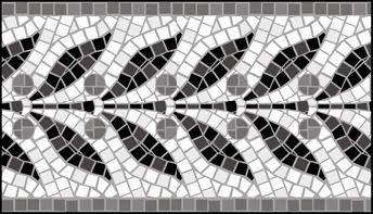 Mosaic Border No 10 stencils, stensils and stencles