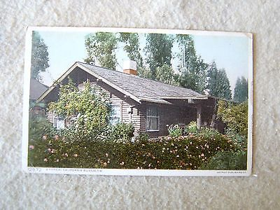 "A TYPICAL CALIFORNIA BUNGALOW. - EARLY 1900'S POST CARD - ""PHOSTINT"" CARD"