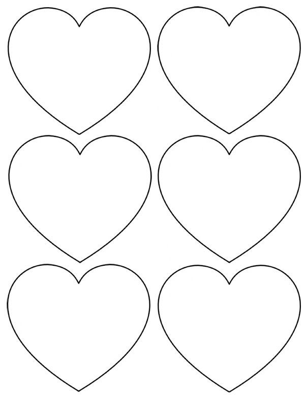 You Can Download The Blank Heart Sheet Here Template
