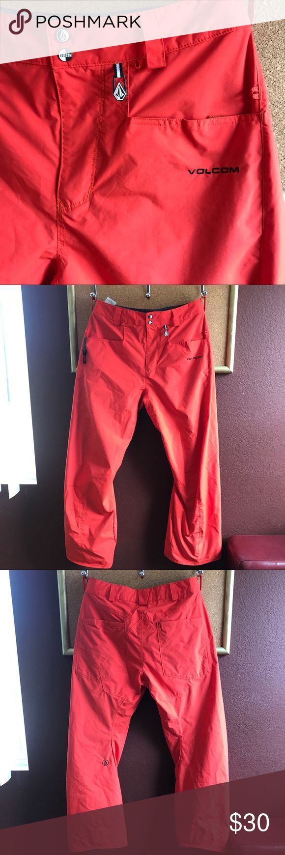 Orange Volcom Snowboarding Pant Size Medium Orange Volcom Snowboarding Pant Size Medium - scuffs on the bottom of legs as pictures . I know it's summer and hot  but don't miss out on these cheap Snowboarding Pants! Volcom Other