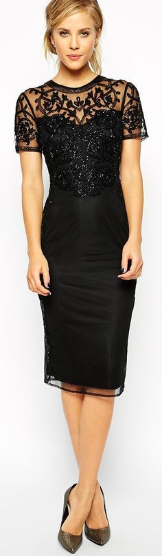 Black Baroque Embellished Shift Dress - Google Search
