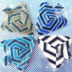 "Schéma & tutoriel - triangle ""tourbillon"" en perle peyote (sch01)"
