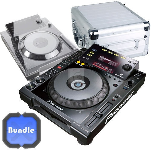 It´s an incredibly cheap bundle. YOU WILL SAVE 132 EURO. This bundle consists of: - 1x Pioneer CD-Player CDJ-900 - 1x Zomo Flightcase CDJ-1 XT silver - 1x Decksaver Cover CDJ-900. More Info / Available here: http://www.recordcase.de/en/pioneer-cd-player-cdj-900-incl.-cdj-1-xt-silver-decksaver-cover-bundle,i7.htm?pid=Google-Ehlen