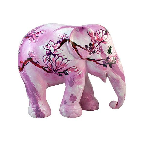 Flower of Love Elephants by Kesorn Mueanpang Elephant Parade Singapore 2011