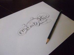tatouage phrase femme trefle