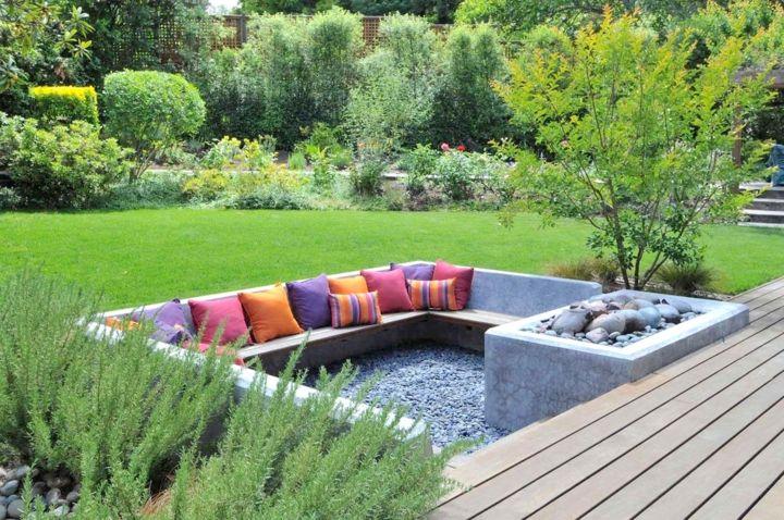 jardines fuego retro conceptos suelos