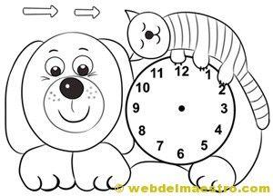 Relojes para aprender la hora 1 espa ol para ni os pinterest - Manualidades relojes infantiles ...