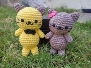 Pola Gratis Amigurumi Couple Kucing 2