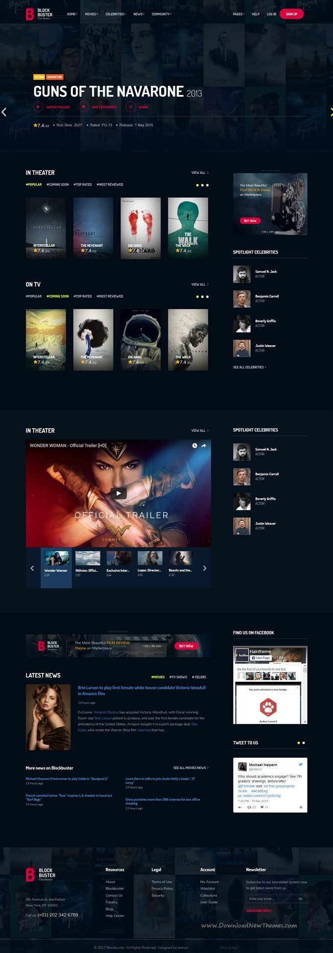 BlockBuster is clean and modern design 3in1 responsive #HTML5 template for stunn…