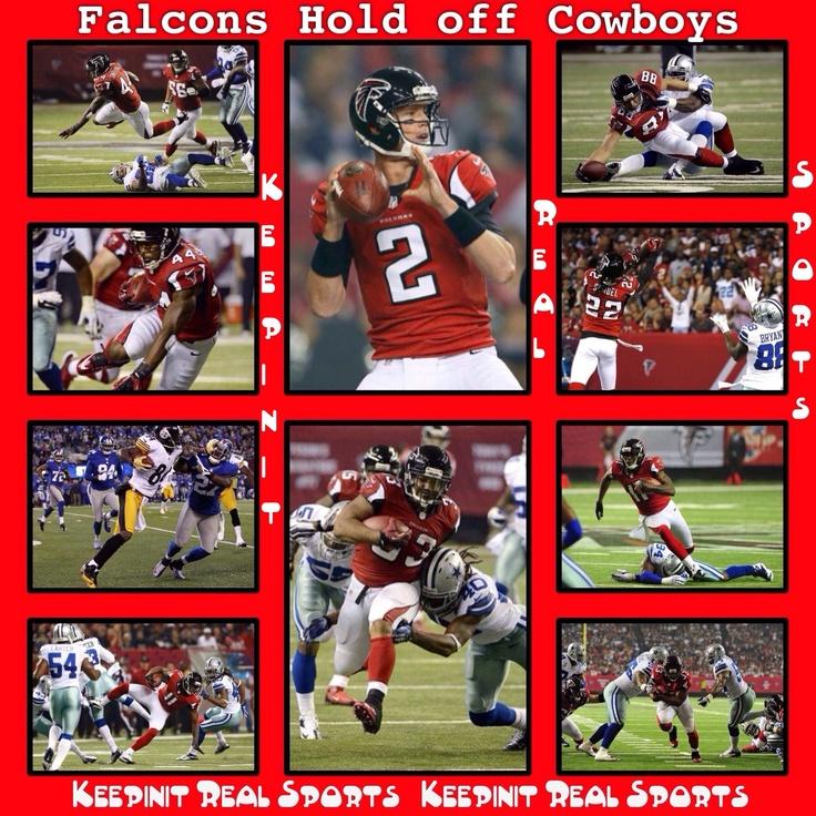 Keepinit Real NFL Stats: Cowboys - vs - Falcons  Cowboys 13 (3-5, 2-3 away) Falcons 19 (8-0, 4-0 home) FINAL  Top Performers Passing: M. Ryan (ATL) - 342 YDS Rushing: M. Turner (ATL) - 20 CAR, 102 YDS, 1 TD Receiving: J. Jones (ATL) - 5 REC, 129 YDS