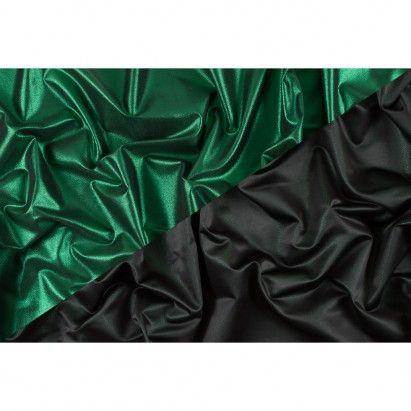 Green/Black Metallic Polyester Lame Fabric by the Yard | Mood Fabrics