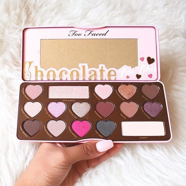 Too Faced Chocolate Bon Bons Palette is a go-to must have for me! 100% These super cute shades go from neutral to smoky with pops of colour all over!