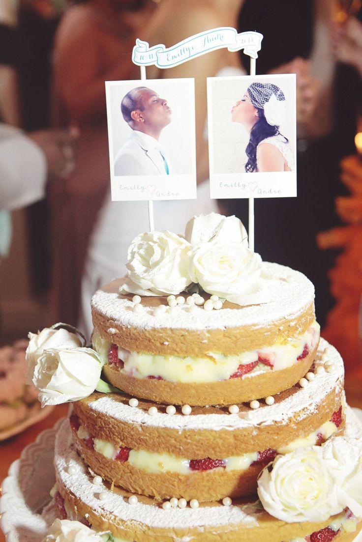 Naked Cake - Casamento Emilly Bolo de Caneca Confeitaria