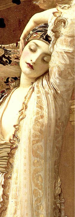 Frederic Lord Leighton's Light of the Harem, 1880. Detail