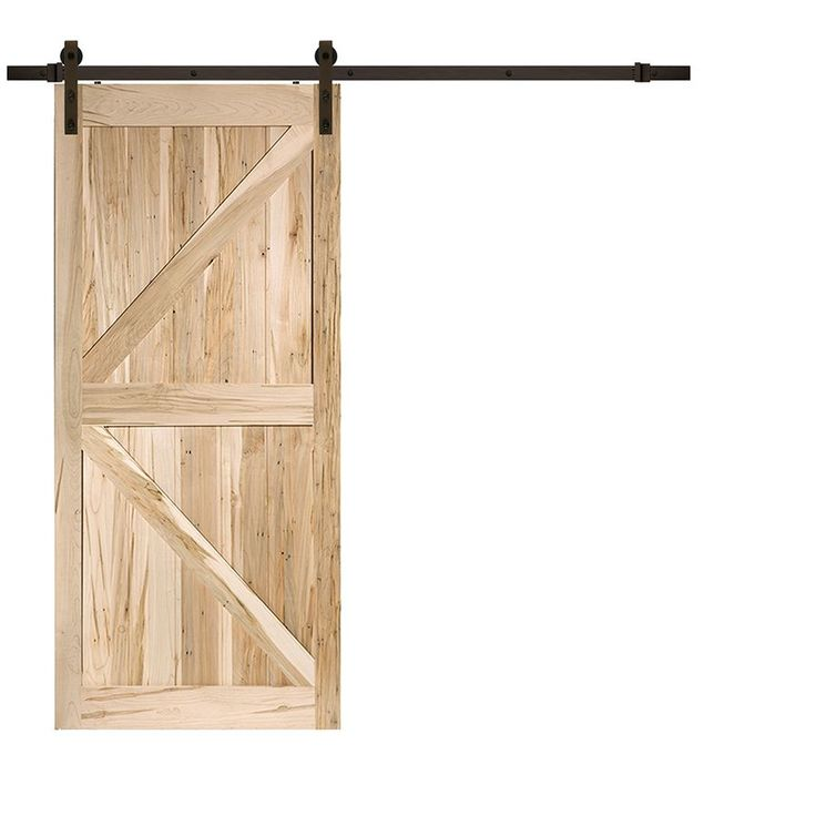 Rustic Country Maple K Barn Door Antique Bronze Bent Strap (6.6 ft.)