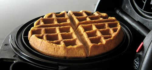 Pumpkin Waffles - 99% of the reviews I read say these are the best they've ever had! Guess we better give them a try. :)