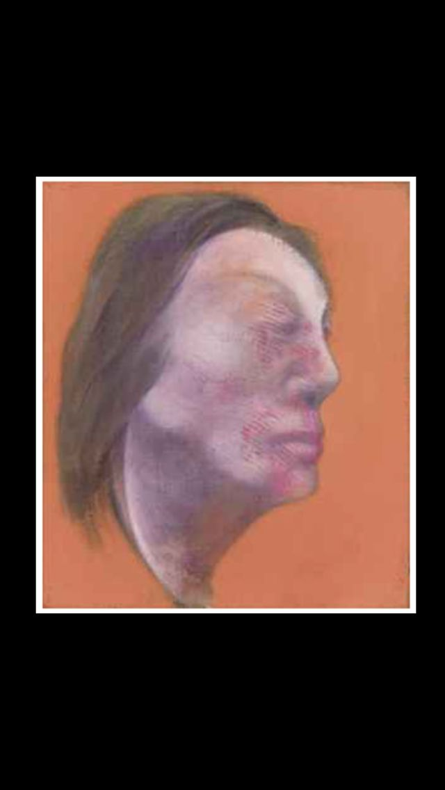 "Francis Bacon - "" Studies of Isabel Rawsthorne "", 1983 - Oil on canvas, in two parts : left part - Each : 35,5 x 30,5 cm"