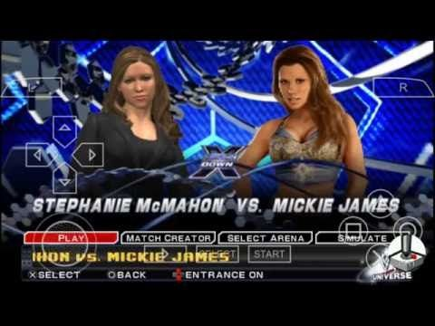 WWE SVR 2011: Stephanie McMahon vs. Mickie James - Smackdown X