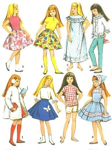 Vintage 9in Pepper Skipper Doll Clothes Pattern 7716 by dollieduds, $5.99