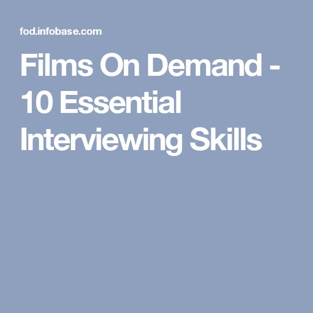 Films On Demand - 10 Essential Interviewing Skills