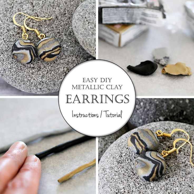 I loved the metallic faux-marble of these DIY marbled clay cufflink s so much that I made myself a pair of easy DIY drop earrings using...