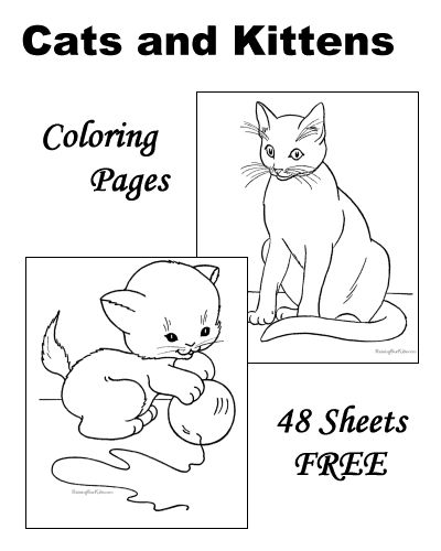these free printable kitten and cat coloring pictures of many cats are fun - Free Printable Cat Coloring Pages