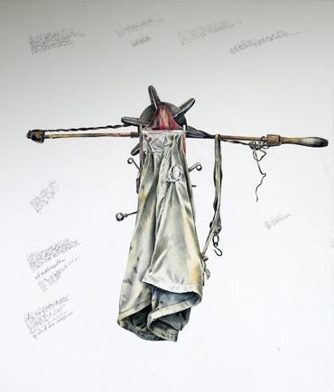 Seed Sower 2007 | Colour pencil and graphite on heritage rag paper | Gordon Faulds | www.gordonfaulds.com