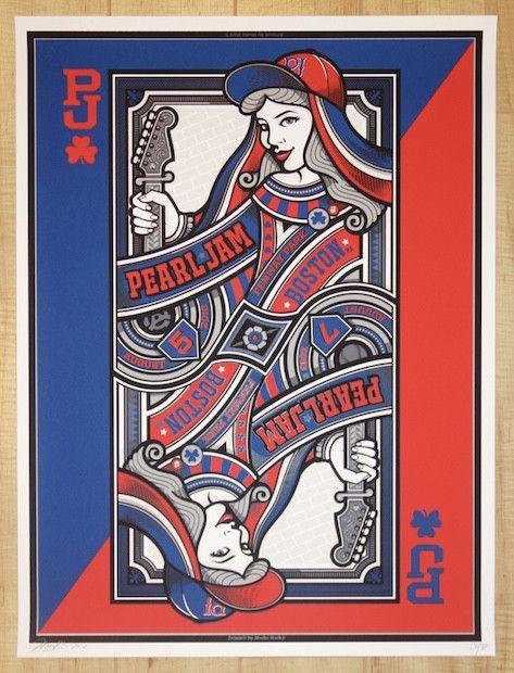 2016 Pearl Jam - Boston III Silkscreen Concert Poster by Mark5 AP