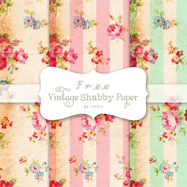 Free Vintage Shabby Digital Papers