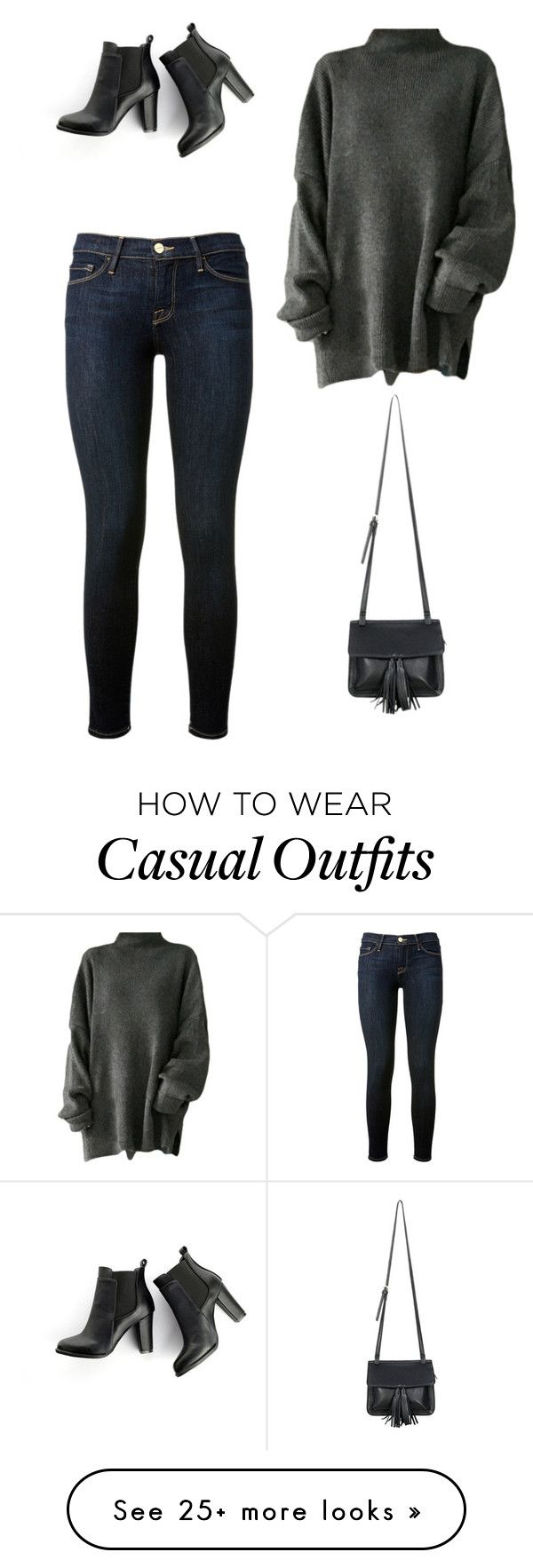 """Casual"" by sydney-lanae on Polyvore featuring ファッション, Frame Denim, SWEET MANGO と Chicnova Fashion"