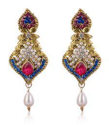 Buy Charming American Diamond Studded Earrings danglers-drop online