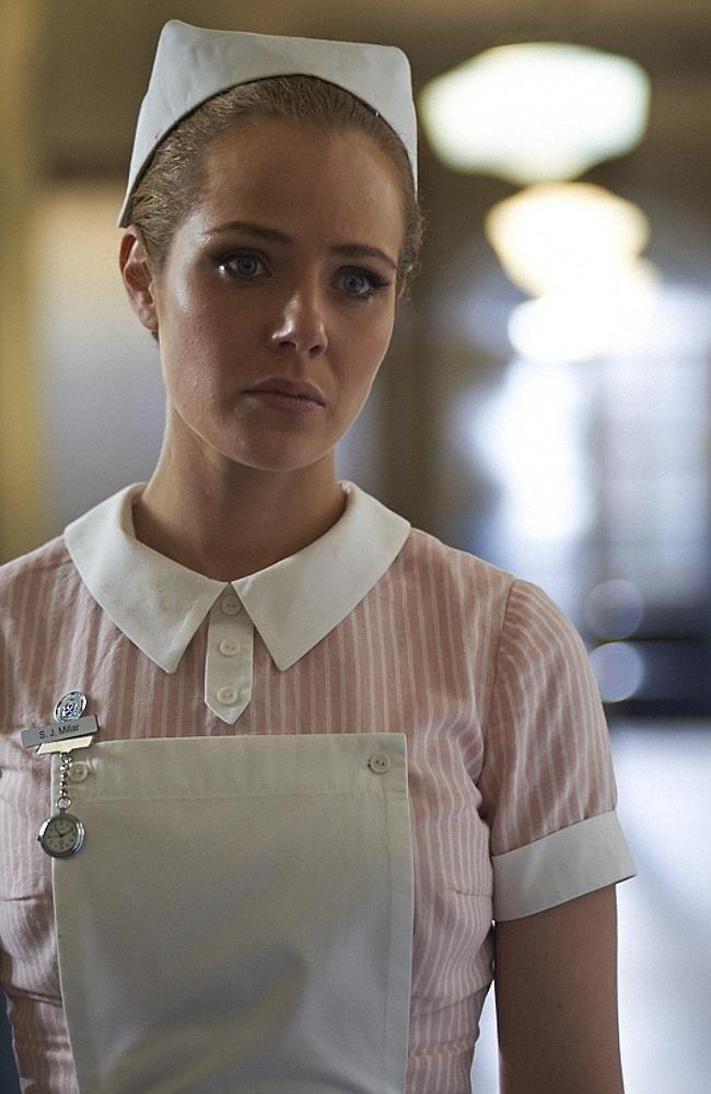 Jessica Marais stars as midwife Joan Millar in Nine's new drama series, Love Child. Picture...