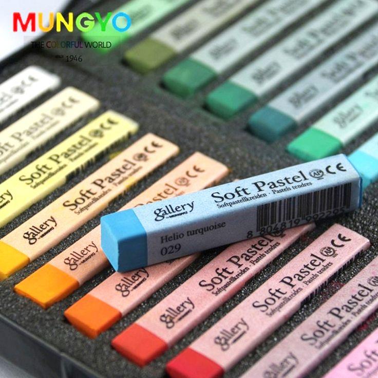 Mềm Phấn Vẽ Set Art Set Bút Chì Mềm Tóc Phấn Tóc Colors Crayons 12/24/36/48 màu sắc Nghệ Thuật Đồ Dùng Học Tập