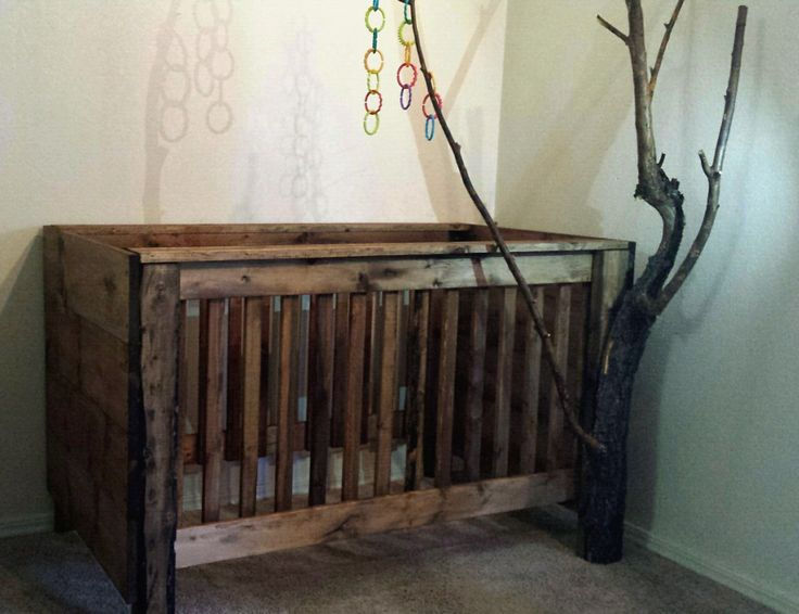 Rustic Baby Crib by Huntsbildz on Etsy https://www.etsy.com/listing/454248280/rustic-baby-crib