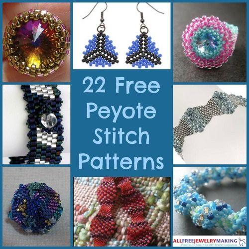 22 Free Peyote Stitch Patterns