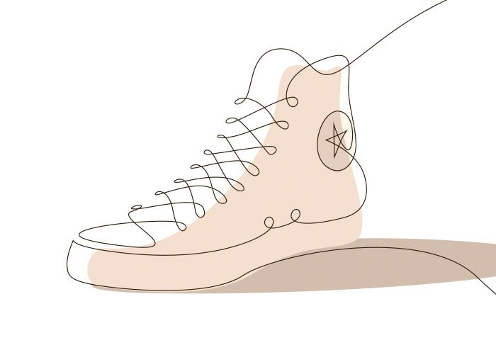 Memorable Sneakers: One Line Illustrations by Differantly | Inspiration Grid | Design Inspiration