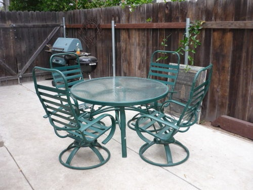 Vintage Mid century Homecrest Holly Hill Collection 4 Chairs and Table patio