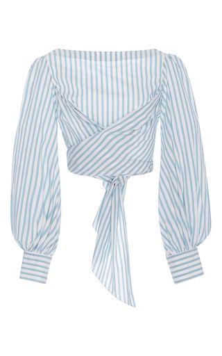 Bahia Twist Cotton Poplin Top by Johanna Ortiz | Moda Opernadi