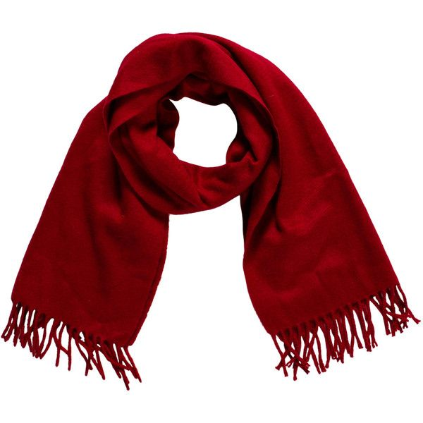 Pre-owned Loro Piana Cashmere Fringe Scarf ($225) ❤ liked on Polyvore featuring accessories, scarves, red, loro piana scarves, fringe shawl, loro piana, red shawl and fringe scarves