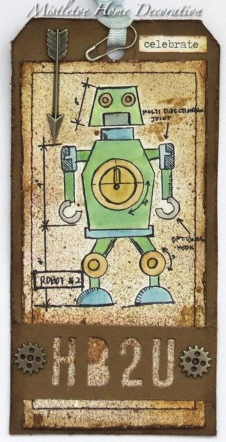 11 best tim holtz robots blueprint images on pinterest stampers 12 tags of 2016 july robot blueprint stamp by tim holtz hb2u malvernweather Gallery