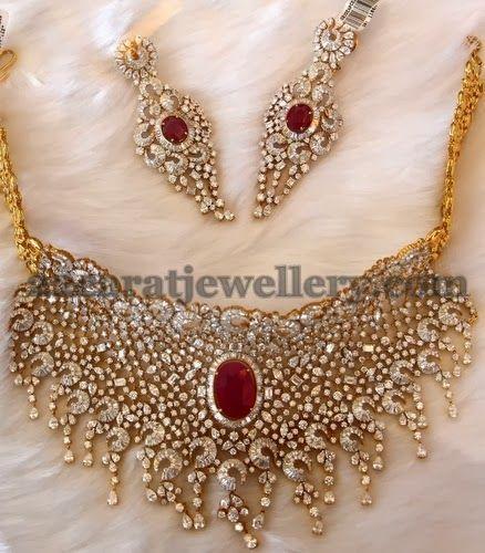 Bridal Luxury Diamond Set   Jewellery Designs