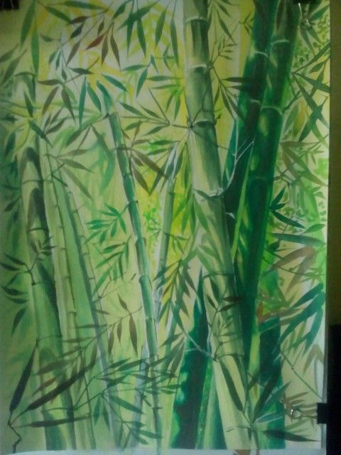 My bamboo water color on aquarel