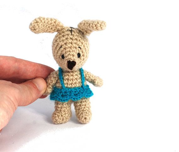 Tiny Amigurumi Rabbit : PLUSH BUNNY, crochet bunny, small amigurumi rabbit, Easter ...