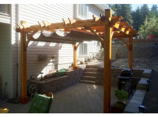 12x12 Breeze Cedar Pergola   With Retractable Canopy